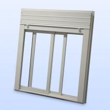 Kunststoff schiebefenster integrierte rolladen