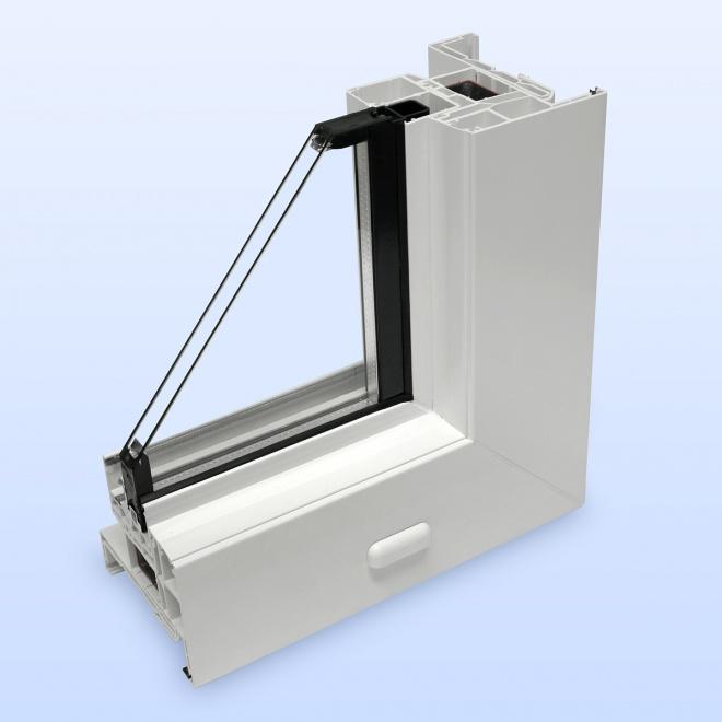 Kunststoff schiebefenster mit anschlag außen umlaufend
